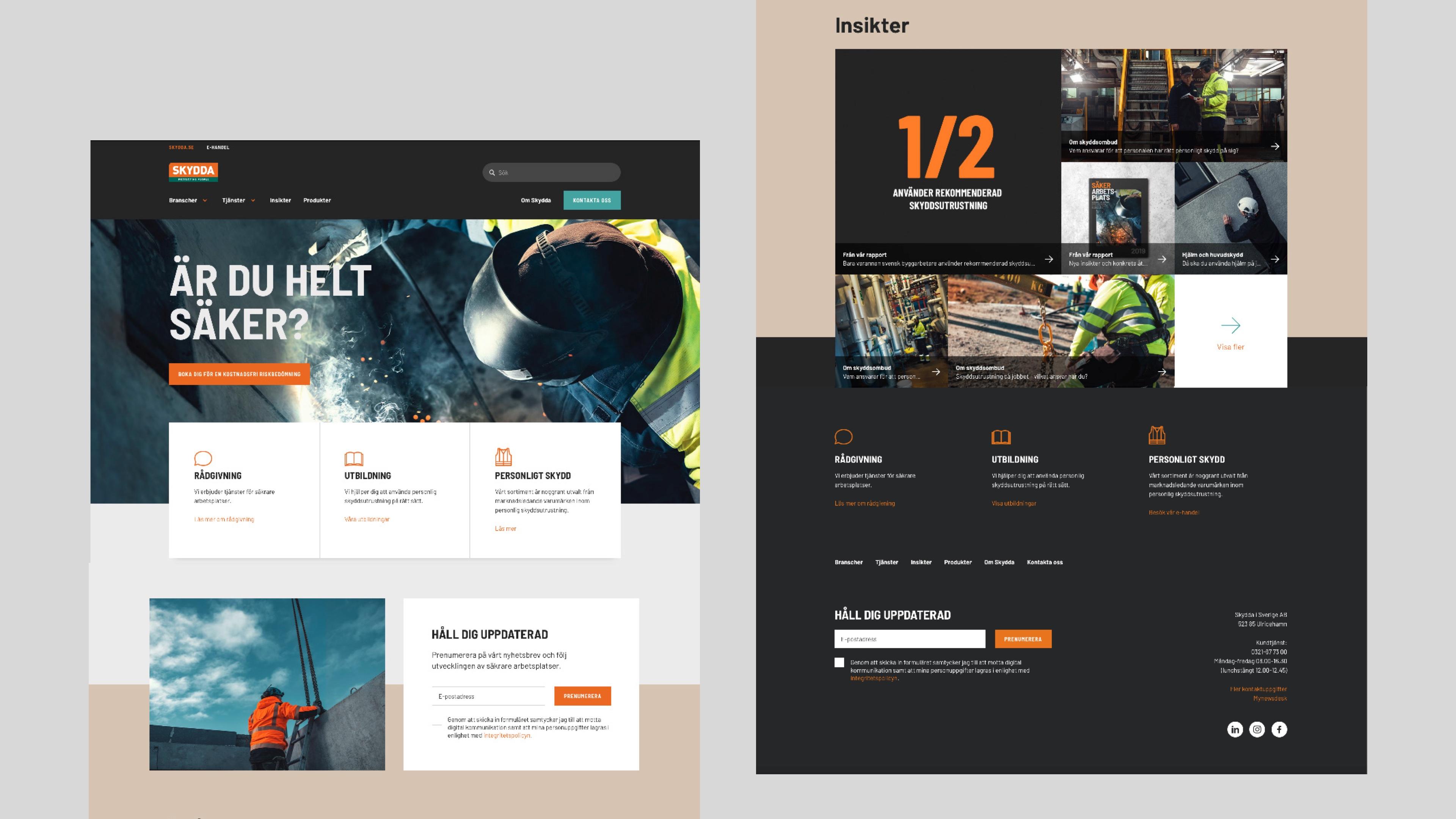 Skydda webbplats design