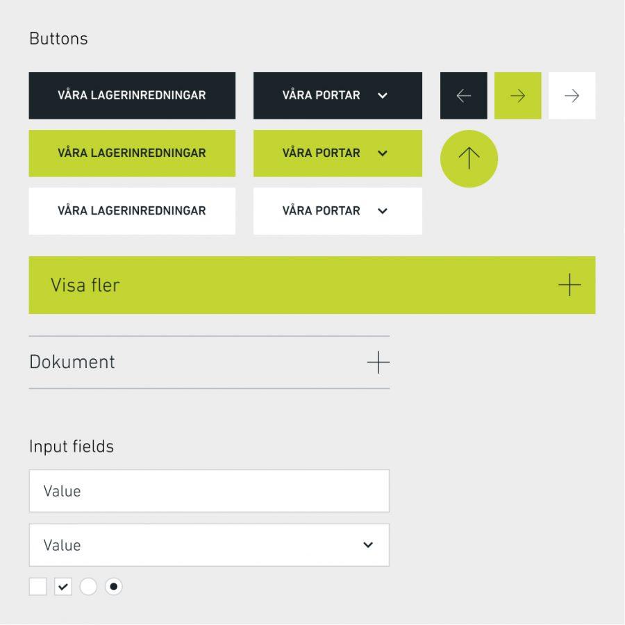EAB webbplats – designsystem ui element