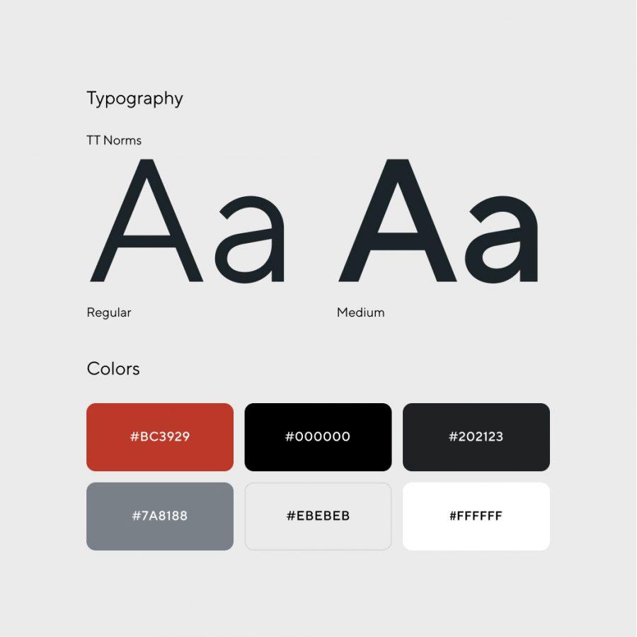 Radioshuttle webbplats – designsystem identitet